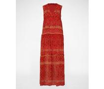Sommerkleid mit Allover-Print orange