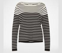 Streifen-Pullover 'Lisi' schwarz/weiß