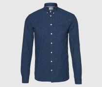 Hemd mit Noppengarn 'Canarsie' blau