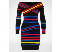 Kleid mit Streifen-Design 'Loca' schwarz
