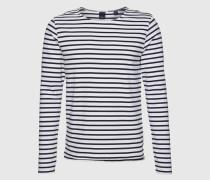 Langarmshirt mit Streifen 'Distillery Breton' blau/weiß