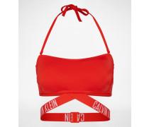 Bikini-Top mit Label-Bund rot