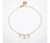 Armband 'Briolet Swarovski' gold/pink