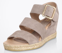 Sandale 'Wedge' grau