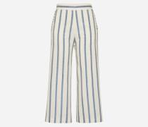 Culotte im Streifen-Design 'Rigato' beige/weiß