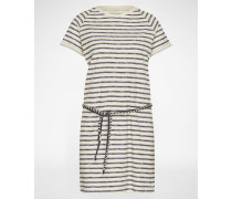 Kleid 'EASY JERSEY' blau/weiß