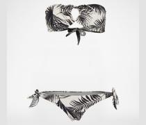Bikini 'Foxy' schwarz/weiß