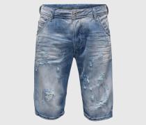 Slim-Fit-Jeansshorts 'Kroshort' blau