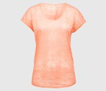 Ausbrenner-Shirt 'Day Pebble' orange/rot