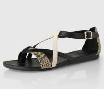Sandalen 'Minho' beige/schwarz