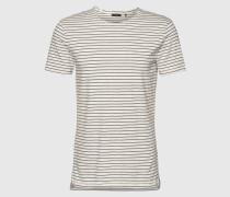 T-Shirt mit Streifen 'Haziem' grau