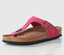 Zehentrenner aus Leder 'Gizeh' pink