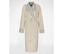 Mantel 'Ines' beige/grau