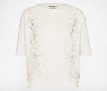 Oversized Shirt 'Laredo' weiß/beige