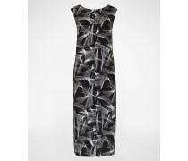 Kleid 'Social Print' schwarz/weiß