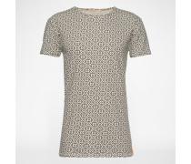 T-Shirt mit Print 'Olle' beige/schwarz