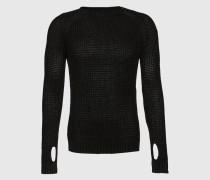 Pullover mit Strick-Struktur schwarz