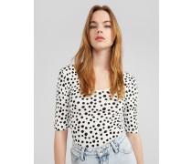 Shirt 'Tabira' weiß/schwarz