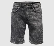 Jeansshorts 'Avi' schwarz
