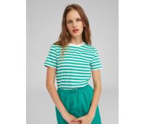 T-Shirt 'Leila' weiß/grün
