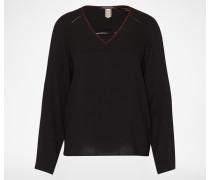 V-Neck Bluse schwarz
