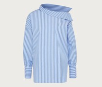 Bluse 'Tila' blau/weiß