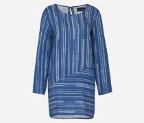 Blusenkleid 'Tangier' blau/weiß