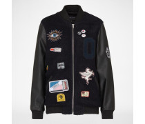 Bomberjacke 'Vacancy' schwarz