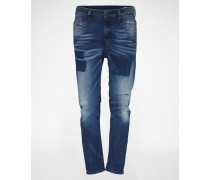 'Fayza' Jeans Tapered Fit 84BW blau