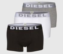 Pants im 3er-Pack 'Kory' grau/schwarz/weiß