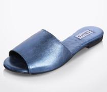 Pantolette 'Jette' blau