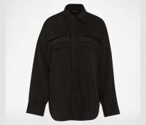 Parka im Hemd-Stil schwarz