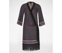 'Kleid im Kinmono-Stil' blau/schwarz