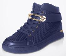 Hohe Sneaker mit Goldschnalle 'Storo' blau