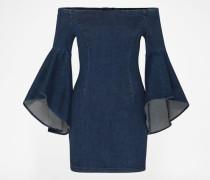 Off Shoulder Jeanskleid 'Lucinda' blau
