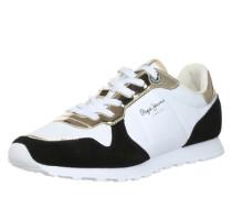 Sneaker Low 'Verona' gold / schwarz / weiß