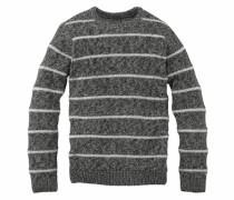 Pullover mit Streifen schwarzmeliert