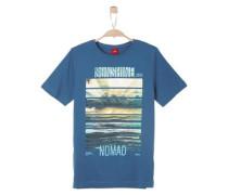 Shirt mit Fotoprint dunkelblau