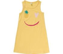 Kinder Jerseykleid gelb