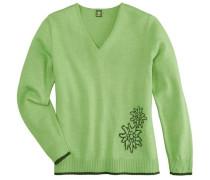 Trachtenpullover mit Edelweißmotiv grün