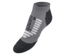 Sport-Sneakersocken (2 Paar) grau / schwarz