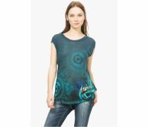 T-Shirt »Elko« blau / grün
