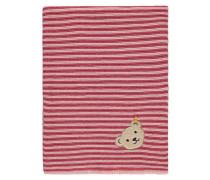 Decke Strick Mädchen Baby pink / rot