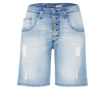Mid Waist Jeans Shorts blue denim