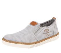 Slipper in Jeans-Optik braun / grau