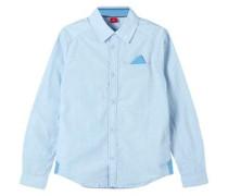 Hemd mit feinem Rautenmuster blau