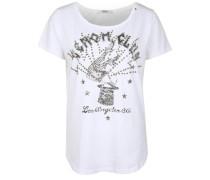 T-Shirt mit Nieten weiß