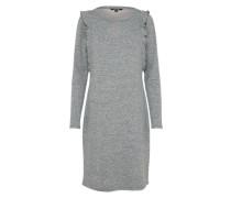 Kleid mit Cut Out graumeliert