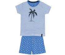 Shorts-Set 'nitderry' nachtblau / himmelblau / hellblau / weiß