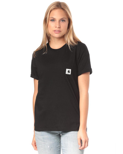 T-Shirt 'Carrie Pocket' schwarz